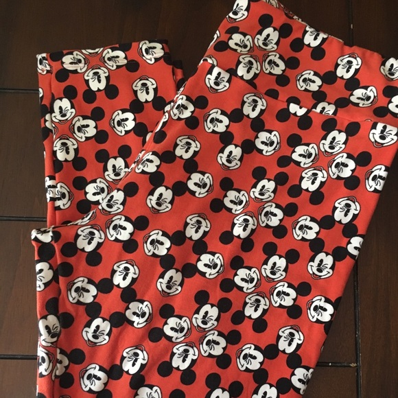 a7369f861cba96 LuLaRoe Pants | Disney Mickey Mouse Leggings Tc | Poshmark